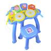 развивающие игрушки Beifen музыка buddyfun детские музыкальные инструменты барабаны свинья Paige Paige электронный барабан 99025A синий троянская мудрость 100 красочные алфавит блоки детские развивающие игрушки деревянные развивающие игрушки барабаны подарки