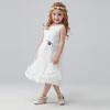 Omer младенец одевает большого девственных девушки производительности юбки платья принцессы платье M0071 белых 130 o me r omer d20