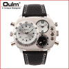 Oulm HP9865 PC21S japan movement quartz watch with decorated compass dual time zone watch dual time zone thermometer watch compass watch dual movt quartz watch for men oulm 1169