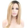 Anogol 2 тонов Blonde Ombre Темные корни Short Bob прямые жаропрочные парики синтетический кружевной передний парик anogol short straight bob lace front wig blonde glueless жаропрочные синтетические парики для волос