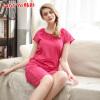 Хань Чой (HACAI) пижамы 2017 летние новые модальные с коротким рукавом круглые шеи наборы из твердых цветов женской домашней одежды костюм розы красный 170/95 (XL)