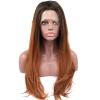 Anogol Long Loose Wave Brown Темные корни Термостойкие натуральные парики Синтетические кружевные передние парики часы long wave