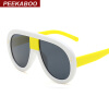 Peekaboo солнцезащитные очки негабаритный женщин белое черным рамы большой мужчин дизайнер солнцезащитные очки унисекс мужского uv peekaboo моды прозрачные очки для женщин мужчин 2018 мужские очки рамы без оправы нерегулярные