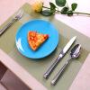 Po You Ni кухонные коврики ПВХ изоляционные маты нескользящие коврики для ресторанов ресторан западные коврики положить посуда коврики зеленый саржевой узор 6 шт DQ9034-6