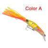 1pc дизайн Squid 7 -14cm / 1.566oz-40g рыболовные приманки 6 Цвета рыбацкая приманка 1/0 # Крючок для рыбалки