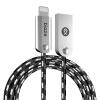 BIAZE K13 вязание сплава цинка яблоко 7/6 / 5s линия передачи данных 1,2 м черный телефон зарядное устройство кабель питания iPhone6s / 7 Plus / SE / Новый IPad Mini Air