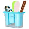 Baijie толстые пластиковые палочки для еды труба три бочки палочки для еды клетка драпированные палочки для еды труба кухонная посуда посуда посуда ящик для хранения SKL-16 синий посуда кухонная