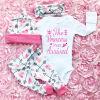 CANIS @ Новорожденный Малыш Детская одежда для девочек Romper Комбинезон Bodysuit + Комплект брюк
