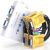 Shanze (SAMZHE) СЗФ-400A 4-портовый KVM-переключатель ручного PS2 интерфейс клавиатура мыши KVM-переключатель монитора VGA совместно с исходной линией