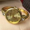 Роскошный Серебро Золото часы браслет женщин платье часы Rhinestone кварцевые браслет часы браслет часов
