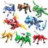 COGO сюжет Gaoxia собрал куски детей дети сражаются игрушки мальчика деформации 3-6-10 лет строительные блоки восемь алей животных
