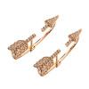 Yoursfs @ Luxury Arrow Design Золотые серьги с покрытием, украшенные блестящими австрийскими ювелирными украшениями для женщин
