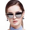 BLUEKIKI YEUX cateye fashion sunglasses women polarized mirror vintage glasses brand design grade cat eye sunglasses women 2017 mirror sunglasses female vintage sun glasses for women ladies sunglass glasses