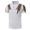Men's short sleeved Lapel fashion T-shirts, printed cotton slim, new short sleeved Polo shirt