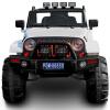 Смех ребенок Jeep Wrangler Детского электромобиль может сидеть четыре человека внедорожника белого БДЙ-0905