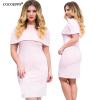 Cocoepps модный новый 2017 плюс размер лето женщины 6xl ruffled dress bodycon синий dress большие большие размеры леди vestidos