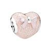 PANDORA Pandora розового лук 925 сердцевидного серебро струнной эмали украшения 792044ENMX кольцо pandora 925 silverring charm