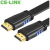 Фото CE-LINK Кабель HDMI 2 метра цифровой линии высокой четкости версии 2.0 плоский кабель HDMI кабель 4K * 2K поддержка 3D компьютерный телевизор проектор проводка 24K позолоченный черный A1819 ce link hdmi цифровой кабель hd 5 метров hdmi кабель удлинительный кабель 4k 2k компьютерный кабель tv 2286