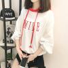JOY OF JOY с капюшоном свободный свитер женский с длинными рукавами корейской моды головой письмо тонкой секции свитер JWWY178143 красный M