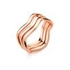 Yoursfs@  Minimalist Geometric Design  Stainless Titanium Steel Rings for Women Finger Jewelry Gift 3pcs set hyperbole geometric circle v shape finger rings