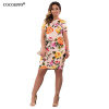 COCOEPPS Summer Floral Print Women Dress 2017 Vintage Elegant Femme Платья Большие размеры Женские платья