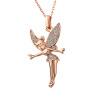 Yoursfs@   Gold Plated Tinkerbell Pendant Necklace for Teen Girls Cute Christmas Gifts Maxi Necklace Online Shopping India yoursfs romantic heart of shape promise dangle earrings for women vintage earring jewelry christmas gifts online shopping india