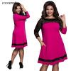 COCOEPPSТри четверти кружевное элегантное платье  летняя  осень плюс Размеры Платья повседневные свободные платья