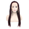 Anogol Braids Twist Handmade Burgundy Glueless Heat Resistant Hair Natural Wigs Lace Synthetic Front Wig лонгслив printio batman x mario