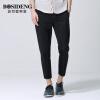 Босидэн мужская одежда BOSIDENGMAN мужская корейская версия из девяти штанов брюки ноги девять штанов брюки 1262B19108 черный 30 цена