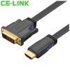 CE-LINK HDMI поворот DVI (24 + 1), переход линии / кабель 3 м видеомониторов высокой четкости компьютер HDTV проекторы черные линии 1852 ce link dvi удлинитель для сетевого кабели усилитель сигнала