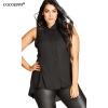 Модные кружевные вышитые женщины шифон tshirt большие размеры 2017 плюс размер без рукавов случайные кружева свободные вершины