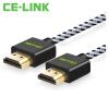кабель CE-LINK HDMI 2 м цифровой HD кабель версии 2.0 HDMI кабель ТВ компьютер 4K * 2K 24K позолоченные проводниковая проекторы черного нейлона сетки сплава A2529 кабель цифровой vovox link direct sd100 aes ebu