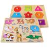 Дани странно (Dan Ni Qi Te) в когнитивной формы + формы пластины дети кусок головоломки деревянные пластины сцепления в когнитивно развивающие игрушки ребенка CDN-8058 развивающие деревянные игрушки кубики животные
