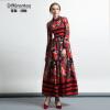 DF · RS 2017Осень новое платье национального ветра ретро цветочные лацкан печати талии платье женщина samsung rs 552 nruasl