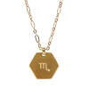 SURPRESA V Zodiac Necklace Plated Golden Pendant Constellation Necklace Astrology Choker диски helo he844 chrome plated r20