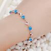 JPF 925 серебряные ювелирные изделия серебряные ювелирные изделия браслет женский корейской моды ювелирных изделий аксессуары девушки день рождения синий 3049