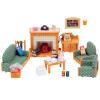 Японские бренды Senbei ребенок семья игрушка девушка принцесса кукла дом моделирование игры дом семьи лес сцена магазин дом - гостиная с камином устанавливает SYFC29598 комарова д пер семья дом