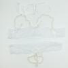 D Белое сексуальное женское бельё Сексуальное женское бельё Бисероплетение Белье Униформа стринги Open Crotch G-string открытый бюстгальтер 2018 день святого валентина сексуальное женское бельё черный кружевной глубокий v образным вырезом сексуальное женское белье сексу