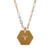 SURPRESA V Zodiac Necklace Plated Golden Pendant Constellation Necklace Astrology Choker робот zodiac ov3400