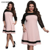COCOEPPSТри четверти кружевное элегантное платье  летняя  осень плюс Размеры Платья повседневные свободные платья повседневные платья