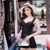 Mitsumi (Searock) сексуальный купальник женский корейский сплошной цвет кусок купальник покрытие живот был тонкий стиль юбка код купальник SM016XL