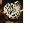 YAZOLE 2016 Skeleton Watch Men Top Brand Luxury Famous Gold Male Clock Quartz Watch Wrist For Men Quartz-Watch relogio masculino winner 2016 new series gear bezel fashion casual design full gold watch men top brand luxury automatic watch clock men montre
