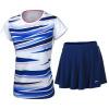 Li Ning LI-NING 17 Новый комбинезон для бадминтона Top Shorts Футболка AATM033-6 Мужской белый 4XL