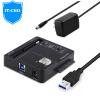 IT-директор V0122A DC порт адаптер питания / зарядное устройство подходит для 12В дискового картриджа / держатель / ноутбук / монитор / камеры 12V / черный. 2А бокс для аккумуляторов 2а