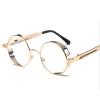 купить ретро - круглые очки высокого качества стимпанк металлический каркас винтаж круглые солнечные очки мужчин и женщин в зеркало uv400 недорого