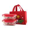Кнопка блокировки (замок и замок) Marvel серии жаростойкого стекла четче микроволновка ланч-боксы отправить обед мешок для детей LLG422S2DS-MV штучных
