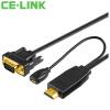CE-LINK HDMI-VGA-кабель конвертер / кабель / 3 м HD аналоговый кабель для преобразования сигнала Монитор подключения к ноутбуку монитор проектор черный 1909 кабель