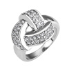 Yoursfs@ Unique 18k  Gold Plated Twisted Style Austrian Crystal Finger Ring For Mothers Day Gift yoursfs heart necklace for mother s day with round austria crystal gift 18k white gold plated