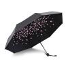 Да ладно черный черри зонт зонтик зонтик солнца зонтик складной зонтик зонтик UV женский Vinyl пункт A1616 джеймс джойс зонтик