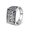 Yoursfs @ Vintage Cubic Zirconia Rings Men Filled CZ Created Retro Rock Steam Punk Изысканный костюм Charm Jewelry для мужчин yoursfs® men s vintage gothic stainless steel rings cross knights of the temple army punk biker rings